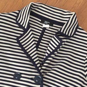 Philippe Adec large stripe crop sweater